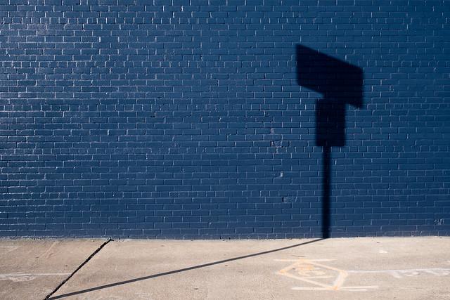 Shadow Hits A Brick Wall