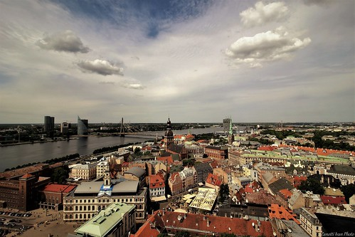 riga landscape latvija latvia sky cityscapes europe wiev oldtown ригалатвия панорамное panoramica city travel