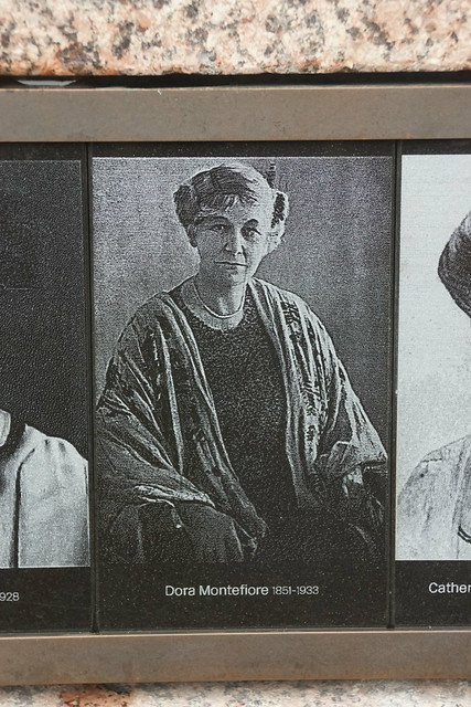 Dora Montefiore 1851-1933, Courage Calls to Courage Everyone, Dame Millicent Garrett Fawcett 1847-1929 (Suffragist), Gillian Wearing (Sculptor), Parliament Square, Westminster, London