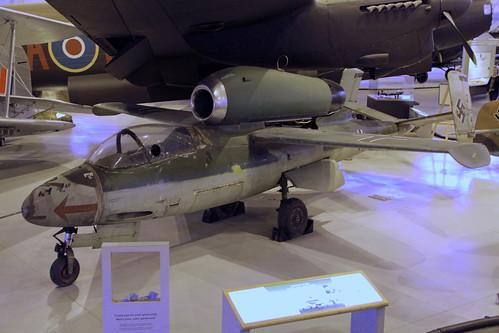 Heinkel He-162 at the CASM, Ottawa