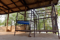 Prisoner cages used by Ta Mok