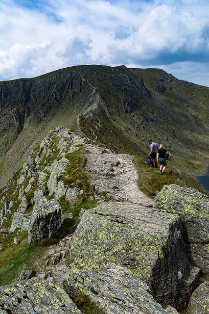Up to Helvellyn via Striding edge