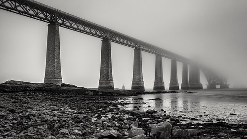 forthrailbridge forthbridge bw mono bridge fog mist scotland nikond7200 tokina1116mm blackwhite