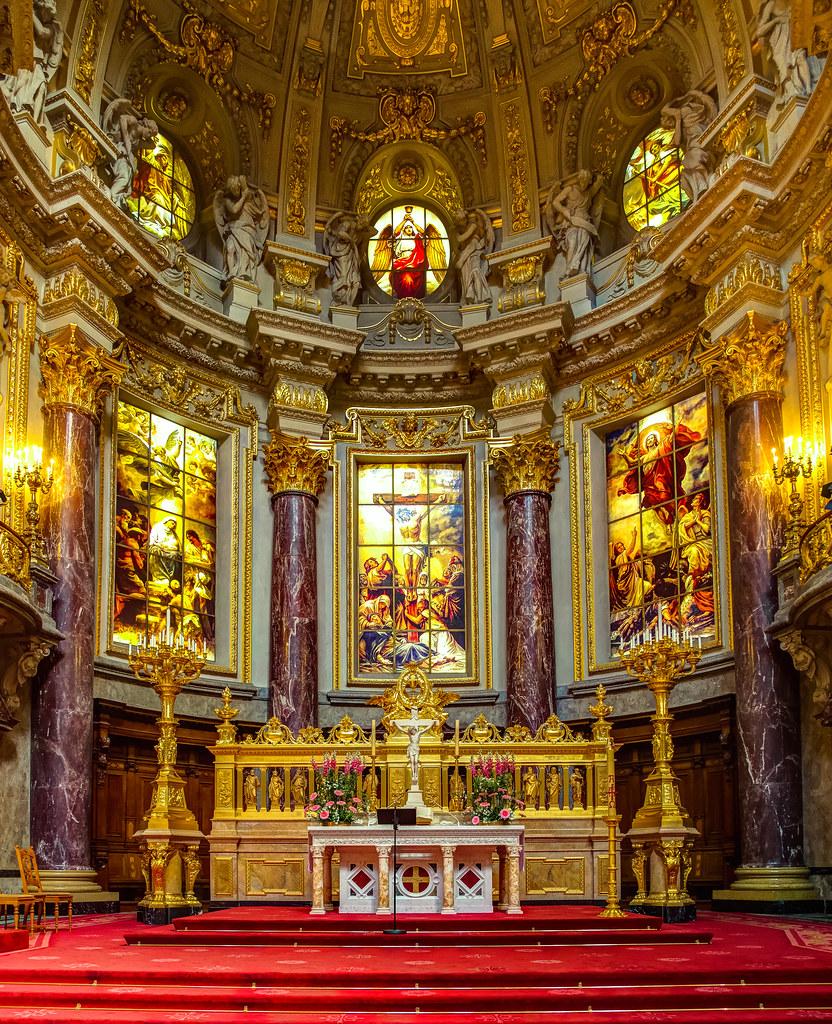 Der Altarraum Im Berliner Dom Wwwberlinerdomde Dewikip Flickr