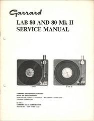 Garrard TechEng Service Manual LAB80 LAB80MkII