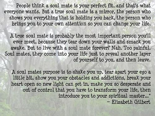 Elizabeth Gilbert Soulmate Quote: Soulmate And Love Quotes: Elizabeth Gilbert