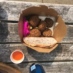 Post-swim London Fields falafel!