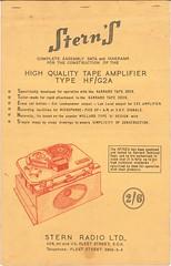 Garrard TechEng Stern Tape Amplifier for Garrard Tape Deck