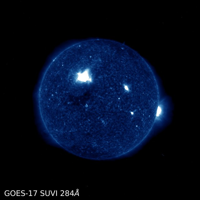 First GOES-17 SUVI Images Capture Solar Flare 284 Å
