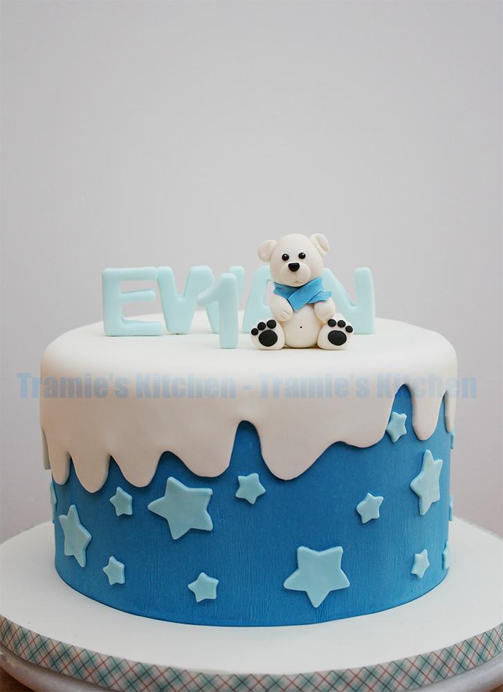 Terrific Polar Bear Birthday Cake Tramies Kitchen Flickr Funny Birthday Cards Online Aeocydamsfinfo