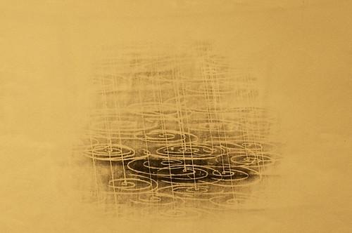 corning newyork rockwellmuseum earthandsky theceramicartofwaynehigby waynehigby sketch rubbing graphite paper rainfallinginwater water rain