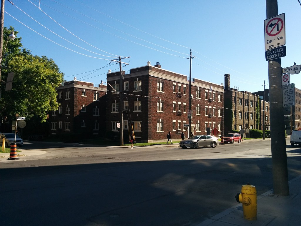 Mid-century red brick apartments, Eglinton at Maxwell #tor ...