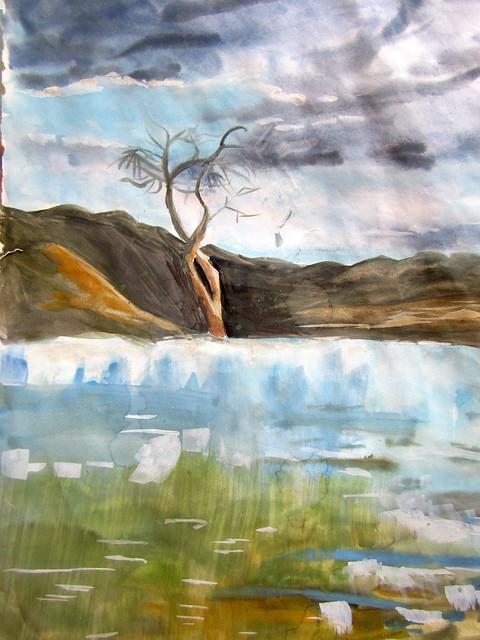 mineral springs watercolour aks