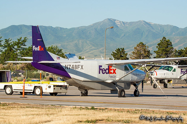 N748FX FedEx Feeder   Cessna 208B Super Cargomaster   Salt Lake City International Airport