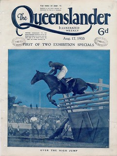 Illustrated front cover from The Queenslander, August 17, 1933