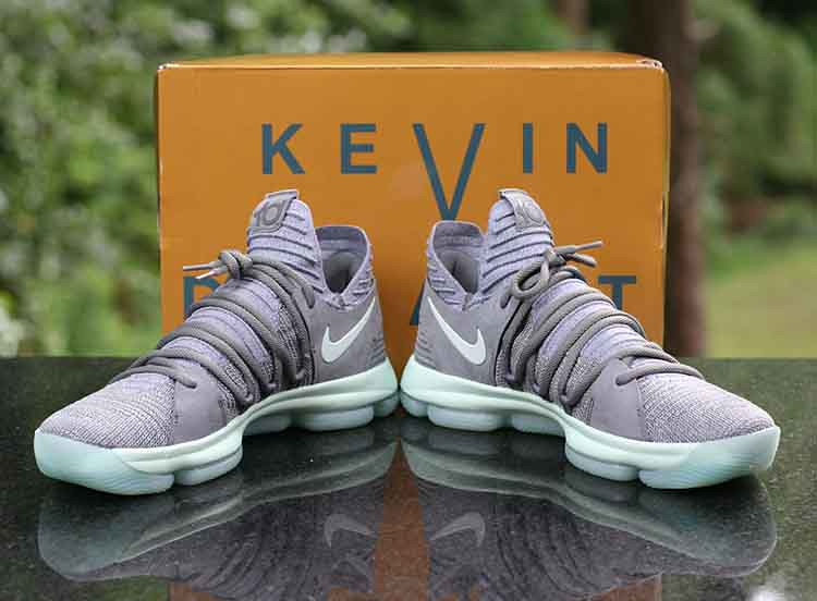 b58639f640fb ... Nike Zoom KD 10 X Kevin Durant Igloo Grey White 897815-002 Men s Size 13