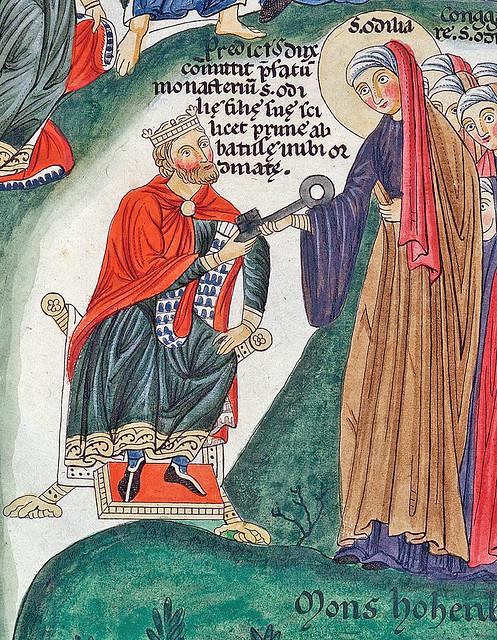 detail  Eticho dux (duke Adalrich) and his daughter Sainte Odile