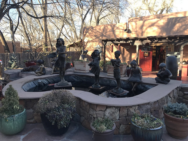 Bronze Statues in Canyon Road
