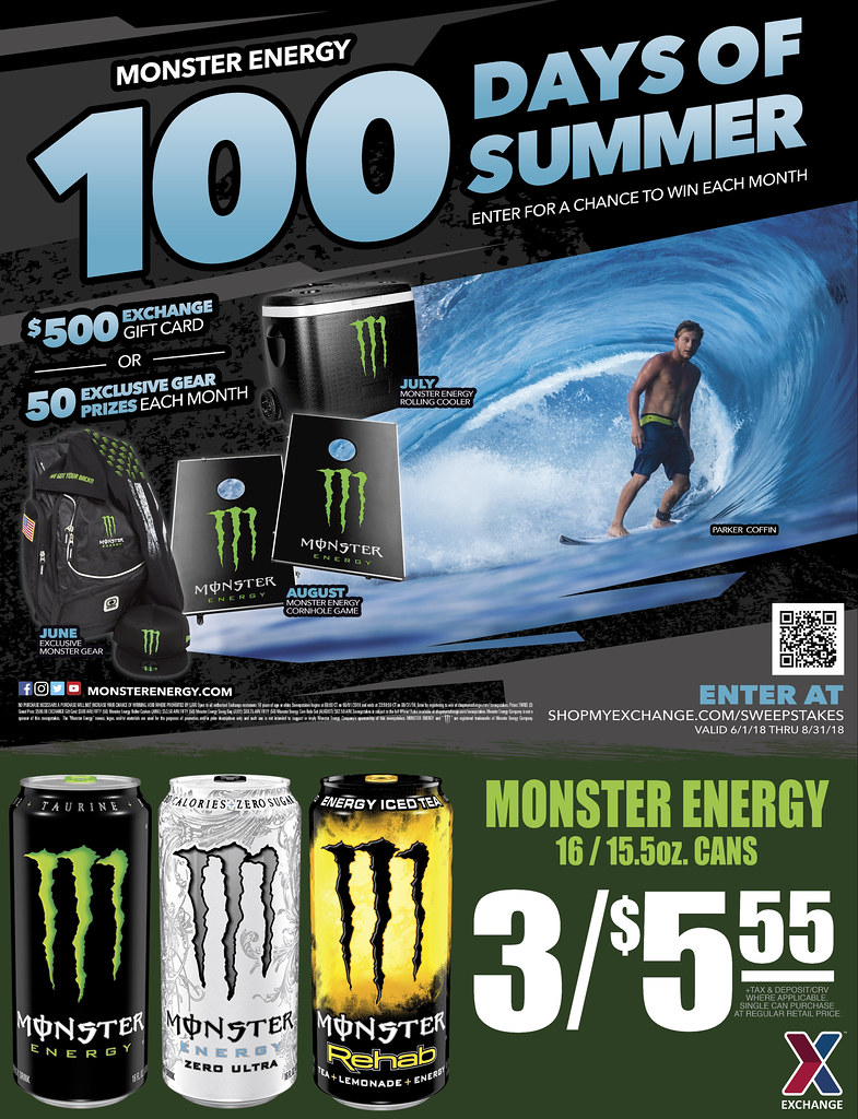 Monster 100 Days of Summer Sweepstakes | Through August 31