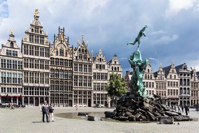 Antwerpen, oude binnenstad.