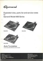 Garrard TechEng Service Manual 600 Series