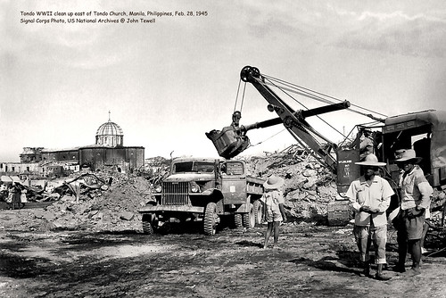 Tondo WWII clean up east of Tondo Church, Manila, Philippines, Feb. 28, 1945