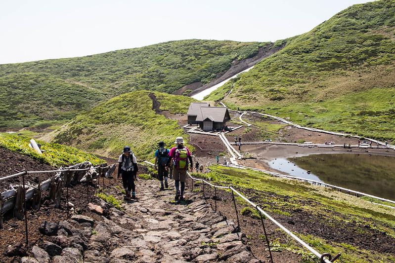 秋田駒ヶ岳の登山道