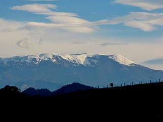 Nevado del Ruiz visto desde Tolima - Eastern side of the Snow mountain volcano el Ruiz - Manizales, Caldas, Colombia.