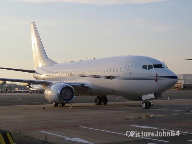 USAL Ltd. Boeing 737 BBJ (VP-BWR) at Schiphol East