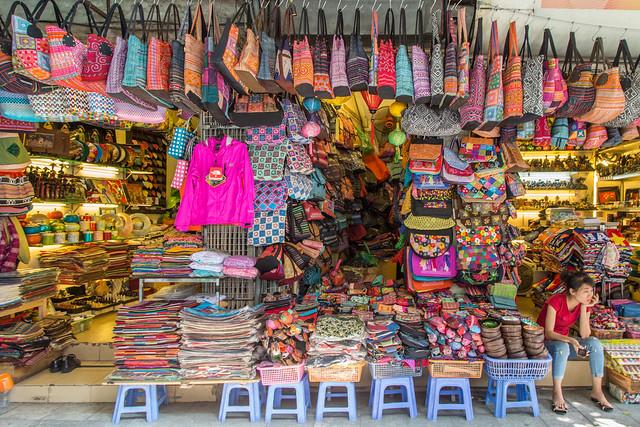 A Street Market in Hanoi