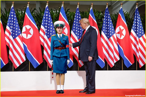 Donald Trump Meets A Pyongyang Traffic Girl June 12, 2018