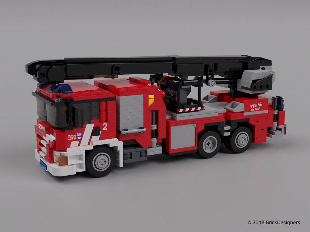 Lego Scania P410 Fire Truck Commissioned Model So Color S Flickr