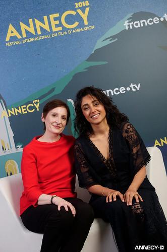 """Nora TWOMEY,  Golshifteh FARAHANI, (""""Parvana, une enfance en Afghanistan/The Breadwinner"""")"""