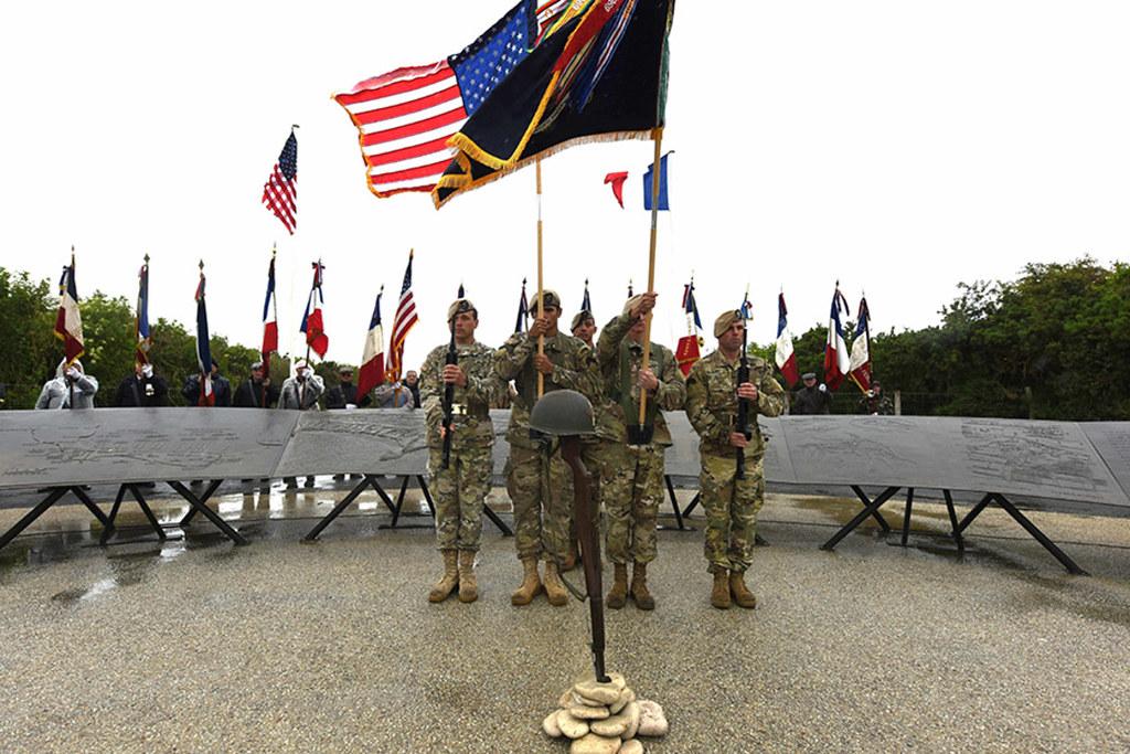 Honoring D-Day Veterans | The 75th Ranger Regiment Color Gua