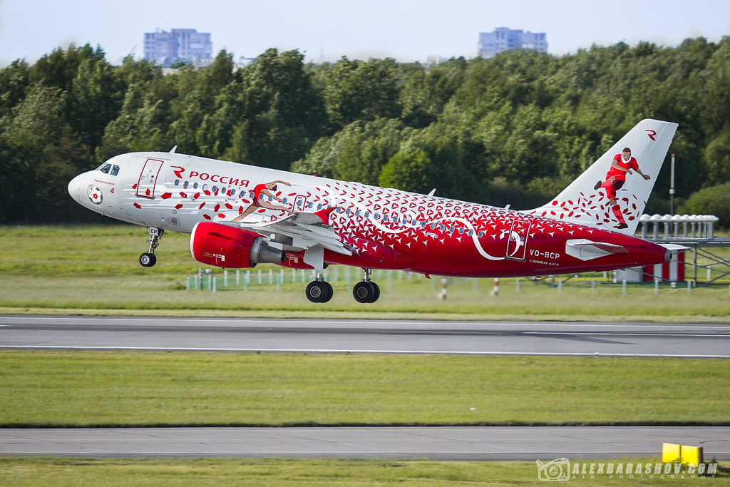 ✈ Airbus A319 VQ-BCP Rossiya airlines during takeoff from airport Pulkovo, Saint-Petersburg