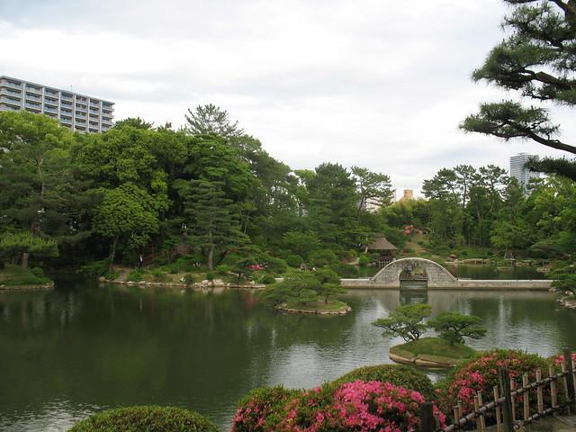 Takueichi Pond and Kokokyo bridge, Shukkeien Garden, Hiroshima