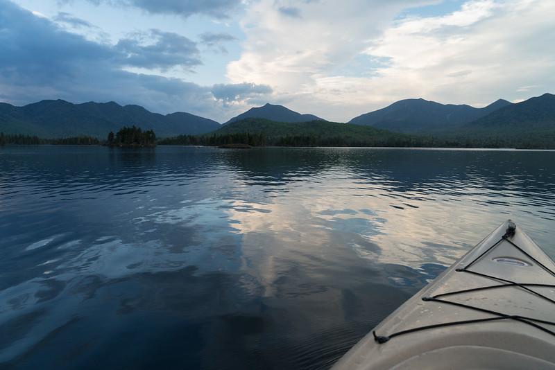 Kayaking on Elk Lake — Evening.