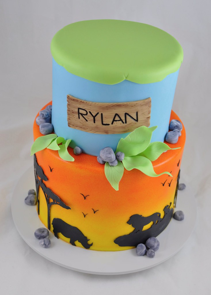 Cool Safari Themed Birthday Cake Jenny Wenny Flickr Funny Birthday Cards Online Elaedamsfinfo
