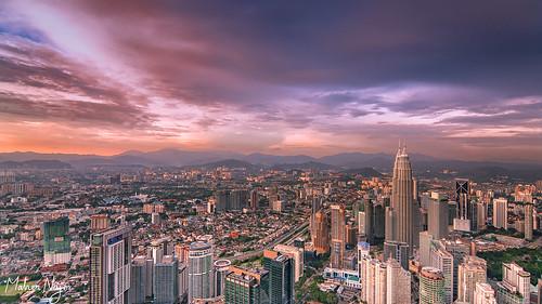 malaysia klcc kualalumpur sony a7rii skyline urban tower city sunset