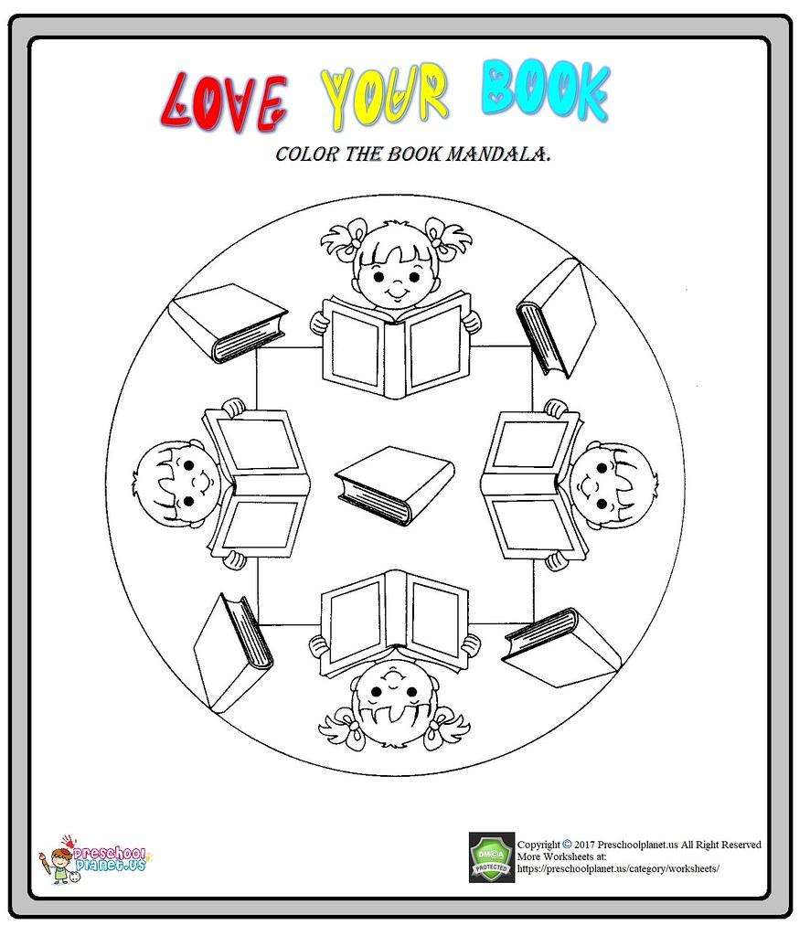 Library Week Mandala Coloring Worksheet | Library Week Manda… | Flickr