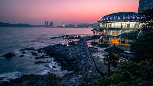 photo landscape bridge southkorea buildings sea longexposure busan urban travel skyscapers photography sky seascape sunset city geotagged architecture kr onsale portfolio