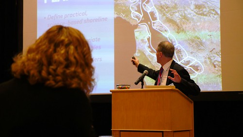 Photo of lecture on shoreline protection