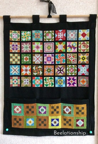 Vibrant Patchwork Tapestry 001 | by Beelationship Embroidery Studio