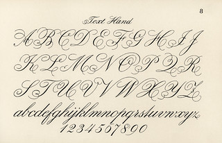 Cursive fonts from Draughtsman'