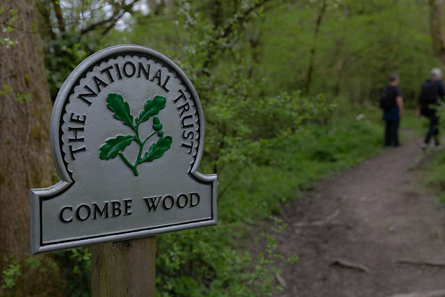 combe wood sign w C and D