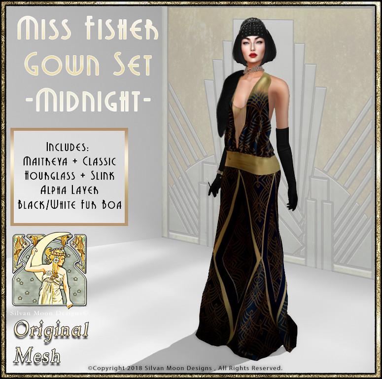 22b0db2cb6 Miss Fisher Gown Set-Midnight-VF 2018-Promo Art   Vintage Fa…   Flickr