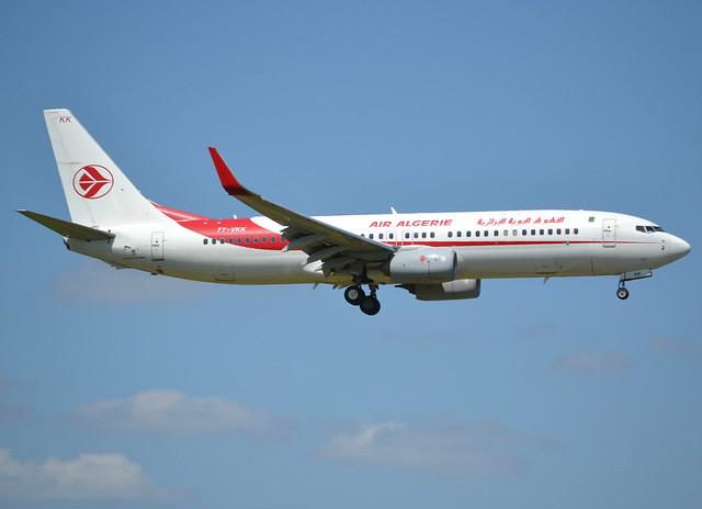 7T-VKK, Boeing 737-8D6(WL), 60747-5479, AH-DAH-Air Algérie, ORY/LFPO 2018-05-11, short finals to runway 06/24.