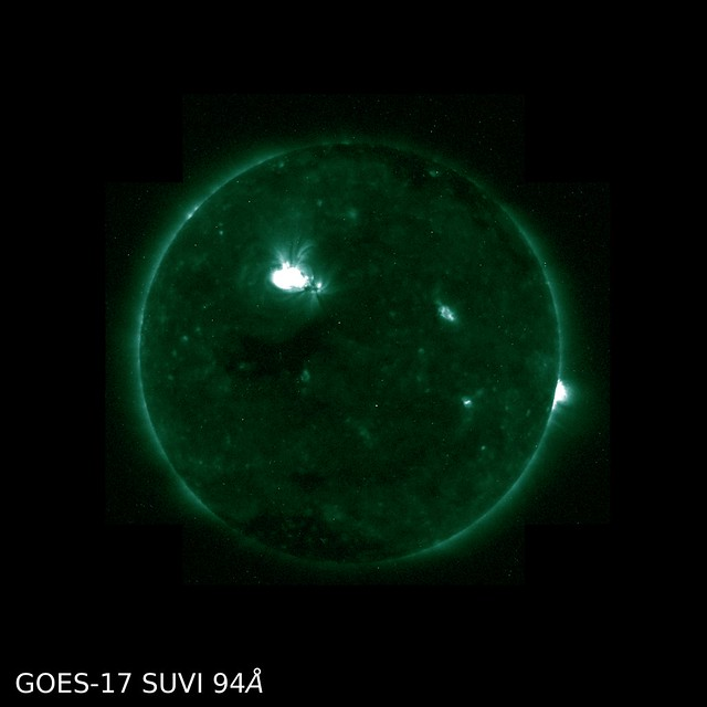 First GOES-17 SUVI Images Capture Solar Flare 94 Å