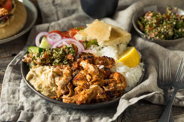 Homemade Doner Kebab Plate