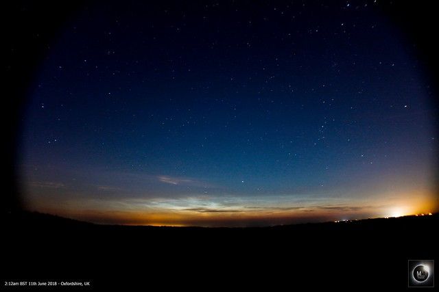 Predawn Noctilucent Clouds from Oxfordshire 11/06/18